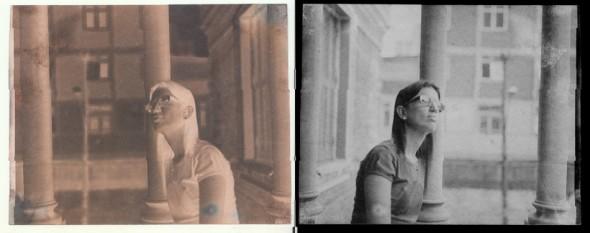 De Waldir Salvadore e Marcela Porcelli. (Esquerda: calótipo / Direita: inversão digital)